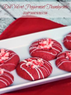The Life & Loves of Grumpy's Honeybunch: Red Velvet Peppermint Thumbprints