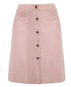 Adam Lippes pink suede skirt