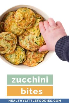 These Zucchini Bites are made from zucchini cheese eggs and oats. Delicious hot or cold and perfect as a snack or for packing in a lunchbox. Protein Snacks For Kids, Healthy Packed Lunches, Picky Toddler Meals, Kids Meals, Baby Meals, Toddler Dinners, Toddler Food, Zucchini Bites, Zucchini Cheese