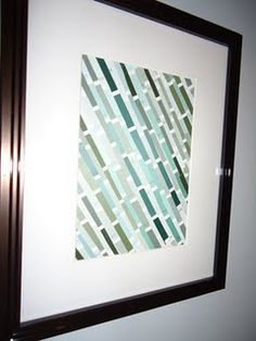 diy artwork using paint samples - so simple! I love how it looks complicated.