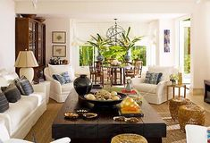 Ralph Lauren Home Living Room, Home And Living, Coastal Living Rooms, Living Room Interior, West Indies Decor, West Indies Style, British West Indies, British Colonial Decor, Dark Wood Furniture