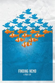 Finding Nemo - minimalistic movie posters