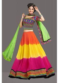 Bollywood Replica -  Traditional Multicolour Lehenga Choli  - 60252