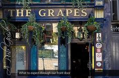 The Grapes, 76 Narrows Street, great oldie world pub on the causeway to the Isle of Dogs and within spitting distance of the new Billingsgate fish market. Many moons ago this used to do the best Dover sole in London, I know because I eat it every Thursday evening- and loved everyone.