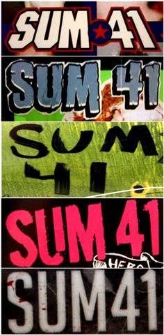 sum 41 collage-ish
