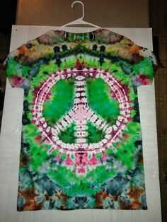 Peace Tie Dye Shirt by Zack's Super Fly Tie Dye on Facebook #Handmade #DIY #Craft #Reuse #Repurpose #Environment #Recycle #UPcycle #Art #TieDye Upcycled Textiles, Super Fly, Dye Shirt, Fly Tying, Reuse, Repurposed, Recycling, Tie Dye, Environment