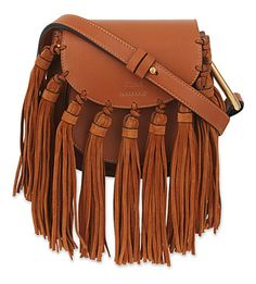 CHLOÉ Mini Hudson Leather Clutch Bag. #chloé #bags #shoulder bags #clutch #suede #hand bags