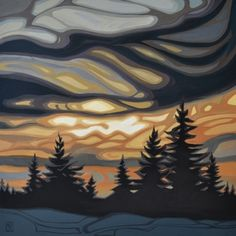 Approaching night, www.hawkesfineart.com