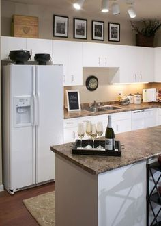 Cute apartment kitchen for 1 person. Save to show someone looking for a home decor
