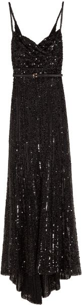 Elie Saab Full Sequin Thin Strap Gown