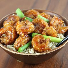 This recipe for crispy Mongolian shrimp is both spicy and sweet. Red pepper flakes provide just enough kick to the garlic and ginger flavors.