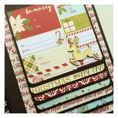 """Waterfall alum insert for """"Christmas Memories"""" a mini album created to celebrate the holiday season. Inspired by Ali Edwards' December Daily. Product used: Simple Stories Classic Christmas Collection. Created for @treasuredmemoriesedmonton"""