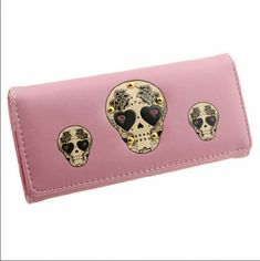 Cute Skull Wallet Cute Skull Wallet measures approximately 7 1/2 inches x 3 1/2 inches. Bags Wallets