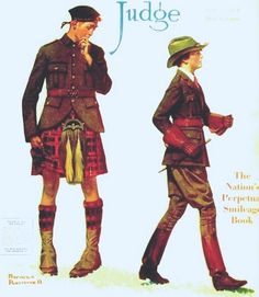 Rockwell, Norman (b,1894)- Petticoats & Pants- 'Judge' mag- June, 1918