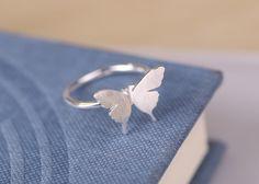 Damen Schmetterling ring 925 sterling silber echte