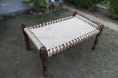 Buy Low Wooden Chairs, Low Seating for Tents Indian Furniture, Wooden Furniture, Outdoor Furniture, Wood Bed Design, Tent Accessories, Wood Beds, Handmade Wooden, A Table, Cots