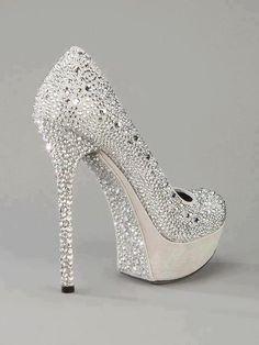 2013 New arrival silver glitter high heel pump shoes platform ...