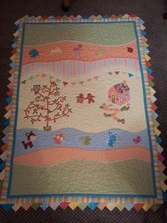 Applique quilt for my new Grandson Noah!