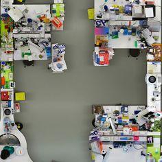 Un laboratorio biológico visto desde arriba