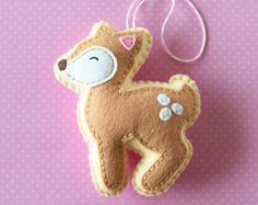PDF Pattern - Little Deer Pattern, Kawaii Felt Ornament Pattern, Felt Softie Sewing Pattern, Felt Deer Pattern