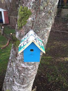 Licence plate bird house