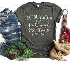 Tis the Season for Hallmark Christmas Movies Hallmark Weihnachtsfilme, Hallmark Movies, Christmas Tee Shirts, Christmas Clothes, Winter Shirts, Fall Shirts, Christmas Outfits, Fall Outfits, Best Hallmark Christmas Movies