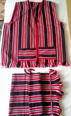 Loin cloth/Sarong / G-string / Bahag. Filipino Ifugao Igorot tribal cloth made from handwoven cotton fabric. Indigenous Tribes, Hand Towels, Hand Weaving, Cotton Fabric, Fabrics, Vest, My Style, Clothes, Tops
