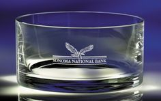 #engraved bowls, #personalized company gifts, #corporate gifts, #candy dishes engraved with your logo $85.00