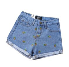 Cute+and+quirky,+these+denim+shorts+come+in+light+or+dark+blue. Material:+Polyester,+Cotton Always+measure+for+your+size+before+purchasing.+  Sizes:  XSmall: Thigh:+50cm Hip:+84cm Length:+28cm Waist:+65cm  Small: Thigh:+51cm Hip:+86cm Length:+28cm Waist:+65+cm  Medium: Thigh:+5...