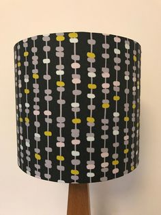 Blue and white cut fruit patterned lampshade fruit pattern lamp dark grey lampshade with lilac yellow and pink pattern aloadofball Choice Image