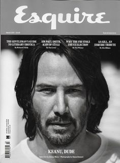 Esquire magazine Keanu Reeves Sir Paul Smith FBI and the U.S. election Style