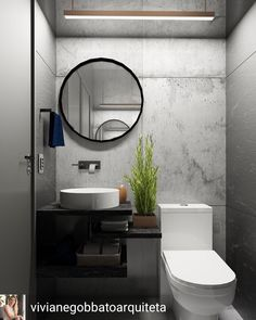LOVE TOILET STYLE (IF WE DONT DO WALL MOUNTED), PLANT, SINK Bird Bathroom, Bathroom Basin, Downstairs Bathroom, Small Bathroom, Bathroom Design Luxury, Modern Bathroom Decor, Modern Bathroom Design, Tile Walk In Shower, Ideas Baños
