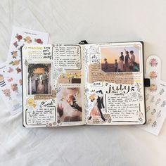 Bullet journal spread for summer Bullet Journal Books, Bullet Journal Ideas Pages, Bullet Journal Inspiration, Journal Pages, Scrapbook Journal, Journal Layout, Travel Scrapbook, Memory Journal, Bullet Journal Aesthetic