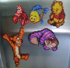 Winnie Pooh and friends hama perler beads by ShampooTeacher
