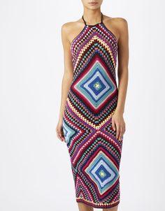 Cristiana Crochet Halter Neck Dress   Liza Karle on WeShop
