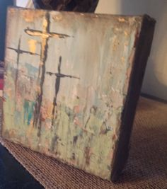 One mini 6x6 x 1 3/4 acrylic abstractthree by KristiHallDesigns, $40.00. My favorite of yours!