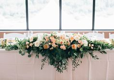 This Calgary celebration was filled with beautiful floral details.