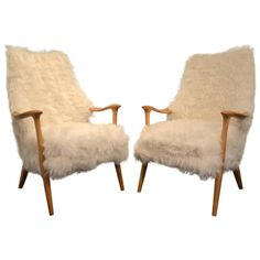 Pair of Beautiful Norvegian Lounge Chair Signed More Lenestolfabrikk AS 1