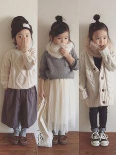 Children and Young Little Girl Fashion, Little Girl Dresses, Toddler Fashion, Kids Fashion, Fashion Clothes, Kids Outfits Girls, Toddler Outfits, Girl Outfits, Knitting For Kids