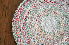 DIY Braided Rag Rug from old sheets