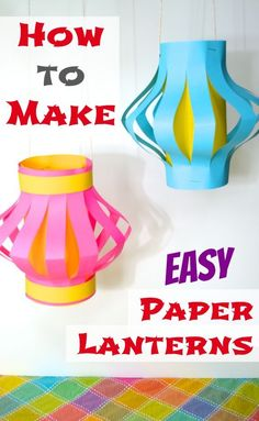 How to Make Easy Paper Lanterns -- Kids Culinary Passport (Japan)