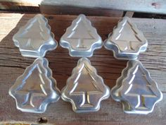 6 Vintage Holiday molds aluminum Christmas by 1350Northvintage