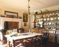 Robert Kime decorating kitchen dining room