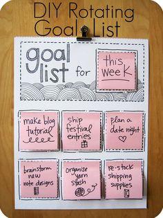 Creating a Rotating Goals List