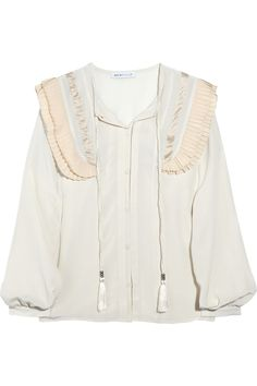 SEE BY CHLOÉ Pleated silk crepe de Chine blouse