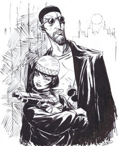 Leon and Mathilda by Sanford Greene, in etienne estorge's Luc Besson's Leon:The Professional Comic Art Gallery Room