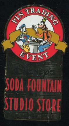 DSF Soda Fountain - Donald and Goofy Pin Trading Event - LE 300 Disney Pin 70353