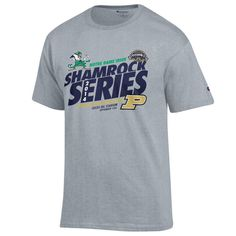 Youth Champion Gray Notre Dame Fighting Irish Shamrock Series T-Shirt - $20.99