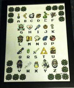 Zelda A-Z cross stitch