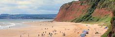 Sandy Beach, Ruth walking round the coast. Devon